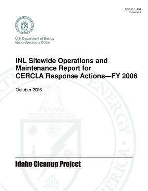 Primary view of object titled 'INL Sitewide Operations and Maintenance Report for CERCLA Response Actions - FY2006'.