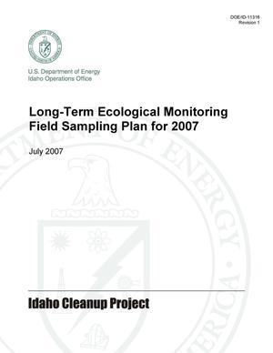 Primary view of object titled 'Long-Term Ecological Monitoring Field Sampling Plan for 2007'.