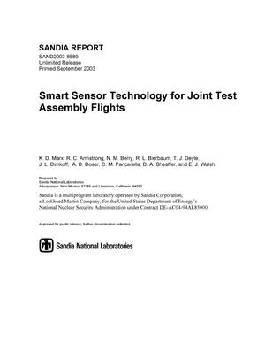 Primary view of object titled 'Smart sensor technology for joint test assembly flights.'.