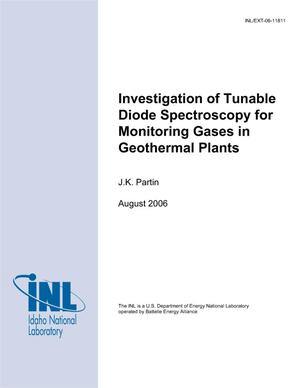 Primary view of object titled 'Investigation of Tunable Diode Spectroscopy for Monitoring Gases in Geothermal Plants'.