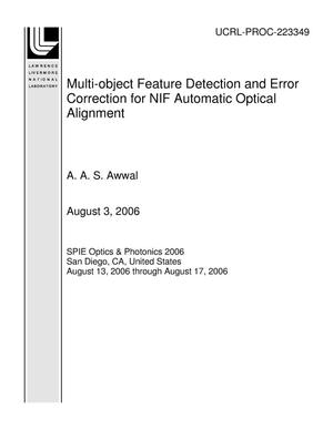 Primary view of object titled 'Multi-object Feature Detection and Error Correction for NIF Automatic Optical Alignment'.