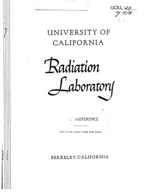Primary view of object titled 'U.C. Radiation Laboratory Monthly Report for November, 1947.Report no. 55'.