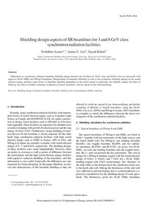 Primary view of object titled 'Shielding Design Aspects of SR Beamlines for 3-GeV And 8-GeV Class Synchrotron Radiation Facilities'.