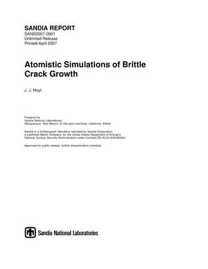 Primary view of object titled 'Atomistic simulations of brittle crack growth.'.