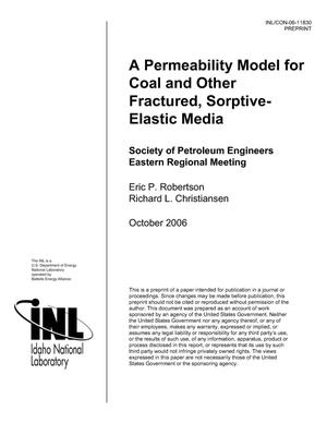 Primary view of object titled 'A Permeability Model for Coal and Other Fractured, Sorptive-Elastic Media'.