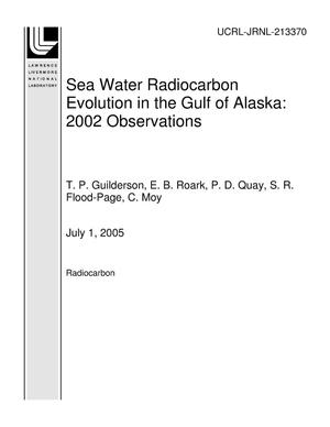 Primary view of object titled 'Sea Water Radiocarbon Evolution in the Gulf of Alaska: 2002 Observations'.