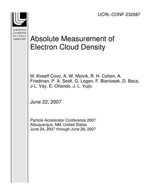 Primary view of object titled 'Absolute Measurement of Electron Cloud Density'.