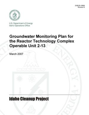 Primary view of object titled 'Groundwater Monitoring Plan for the Reactor Technology Complex Operable Unit 2-13'.