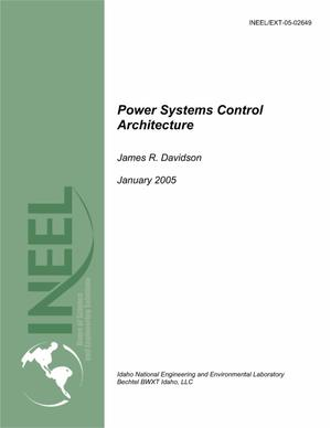 Primary view of object titled 'Power Systems Control Architecture'.