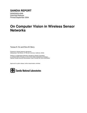 Primary view of object titled 'On computer vision in wireless sensor networks.'.