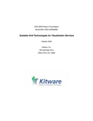 Primary view of object titled 'SBIR Phase II Final Report for Scalable Grid Technologies for Visualization Services'.