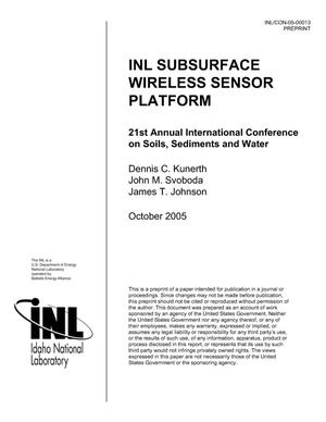 Primary view of object titled 'INL Subsurface Wireless Sensor Platform'.