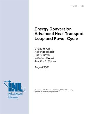 Primary view of object titled 'Energy Conversion Advanced Heat Transport Loop and Power Cycle'.