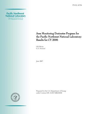 Primary view of object titled 'Area Monitoring Dosimeter Program for the Pacific Northwest National Laboratory: Results for CY 2006'.