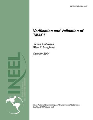 Primary view of object titled 'Verification and Validation of TMAP7'.
