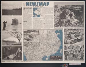 Primary view of object titled 'Newsmap. For the Armed Forces. 244th week of the war, 126th week of U.S. participation'.