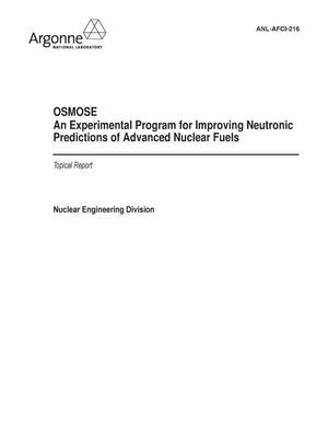 Primary view of object titled 'OSMOSE an experimental program for improving neutronic predictions of advanced nuclear fuels.'.