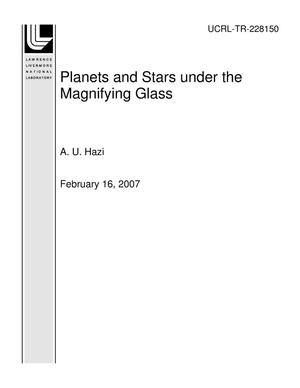 Primary view of object titled 'Planets and Stars under the Magnifying Glass'.