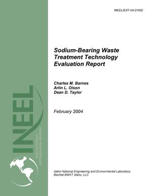 Primary view of object titled 'Sodium-bearing Waste Treatment Technology Evaluation Report'.