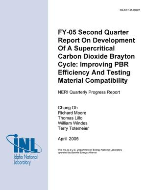 Primary view of object titled 'FY-05 Second Quarter Report On Development of a Supercritical Carbon Dioxide Brayton Cycle: Improving PBR Efficiency and Testing Material Compatibility'.