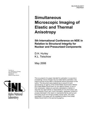 Primary view of object titled 'Simultaneous Microscopic Imaging of Elastic and Thermal Anisotropy'.