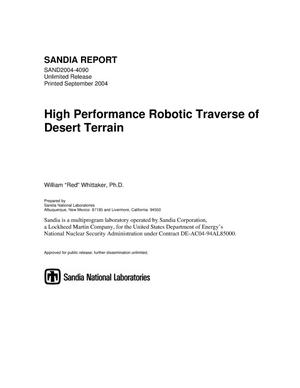 Primary view of object titled 'High performance robotic traverse of desert terrain.'.
