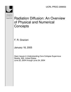 Primary view of object titled 'Radiation Diffusion: An Overview of Physical and Numerical Concepts'.