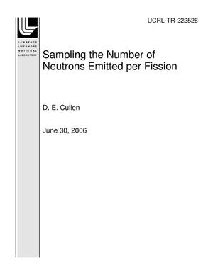 Primary view of object titled 'Sampling the Number of Neutrons Emitted per Fission'.