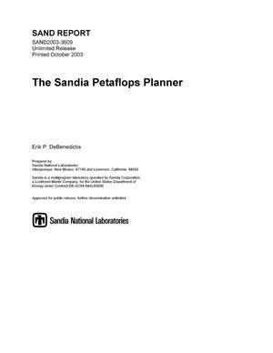 Primary view of object titled 'The Sandia petaflops planner.'.