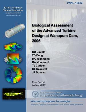 Primary view of object titled 'Biological Assessment of the Advanced Turbine Design at Wanapum Dam, 2005'.