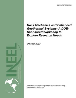 Primary view of object titled 'Rock Mechanics and Enhanced Geothermal Systems: A DOE-sponsored Workshop to Explore Research Needs'.