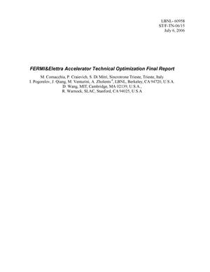 Primary view of object titled 'FERMI&Elettra Accelerator Technical Optimization FinalReport'.