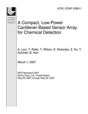 Primary view of object titled 'A Compact, Low-Power Cantilever-Based Sensor Array for Chemical Detection'.