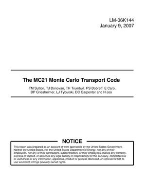 Primary view of object titled 'The MC21 Monte Carlo Transport Code'.