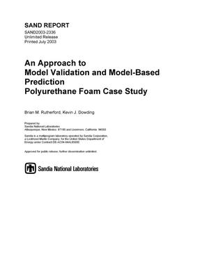 Primary view of object titled 'An approach to model validation and model-based prediction -- polyurethane foam case study.'.