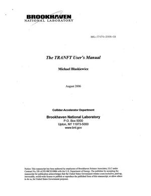 Primary view of object titled 'THE TRANFT USER'S MANUAL.'.