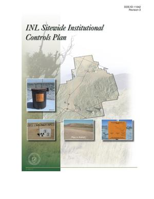 Primary view of object titled 'Idaho National Laboratory (INL) Sitewide Institutional Controls Plan'.