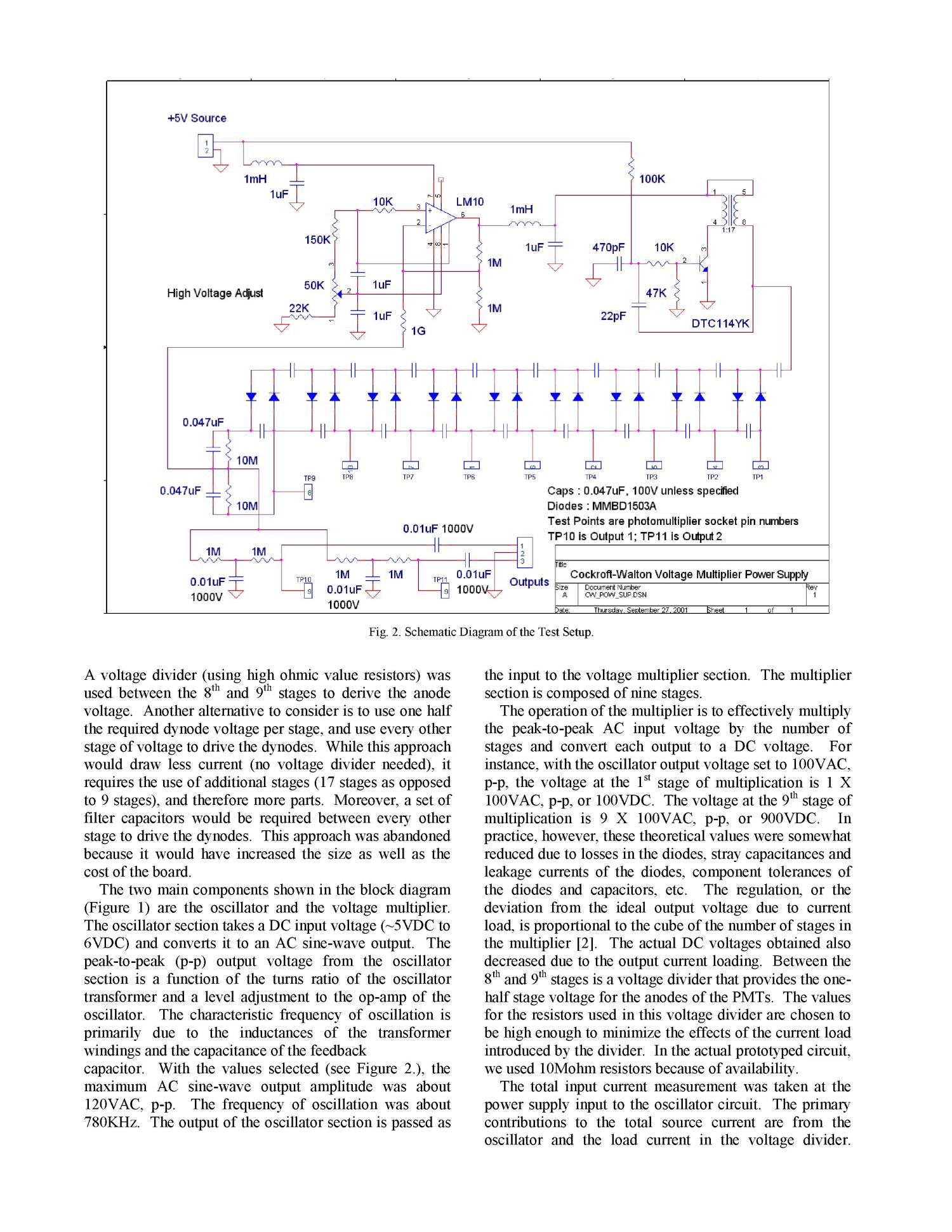 Using The Cockroft Walton Voltage Multiplier Design In Handheld With Diodes And Capacitors Devices Page 3 Of 5 Digital Library