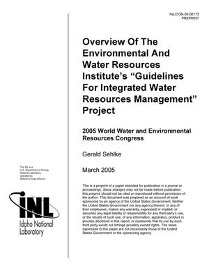 "Primary view of object titled 'Overview of the Environmental and Water Resources Institute's ""Guidelines For Integrated Water Resources Management"" Project'."
