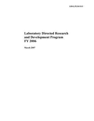 Primary view of object titled 'Laboratory Directed Research and Development Program FY 2006'.