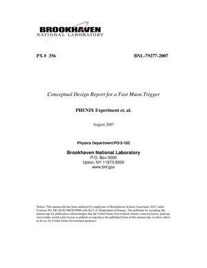 Primary view of object titled 'CONCEPTUAL DESIGN REPORT FOR A FAST MUON TRIGGER'.
