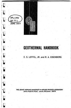Primary view of object titled 'Geothermal Handbook'.