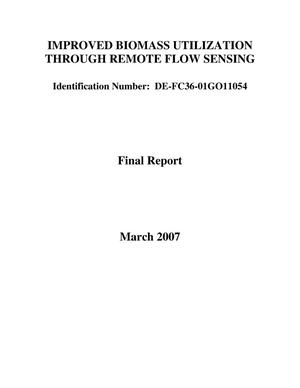 Primary view of object titled 'IMPROVED BIOMASS UTILIZATION THROUGH REMOTE FLOW SENSING'.