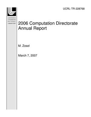 Primary view of object titled '2006 Computation Directorate Annual Report'.
