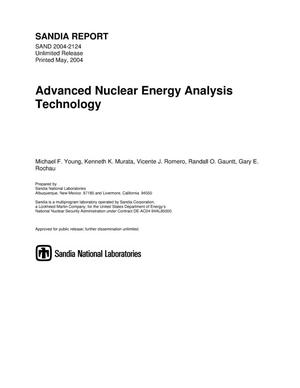 Primary view of object titled 'Advanced nuclear energy analysis technology.'.