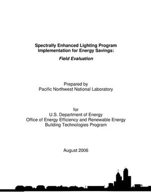 Primary view of object titled 'Spectrally Enhanced Lighting Program Implementation for Energy Savings: Field Evaluation'.