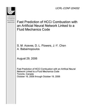 Primary view of object titled 'Fast Prediction of HCCI Combustion with an Artificial Neural Network Linked to a Fluid Mechanics Code'.