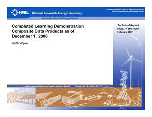 Primary view of object titled 'Completed Learning Demonstration Composite Data Products as of December 1, 2006'.