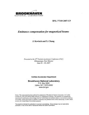 Primary view of object titled 'EMITTANCE COMPENSATION FOR MAGNETIZED BEAMS'.