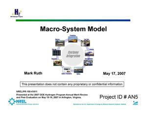 Primary view of object titled 'Macro-System Model (Presentation)'.